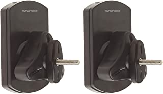 Monoprice Low Profile 22 lb. Capacity Speaker Wall Mount Brackets (Pair) Black