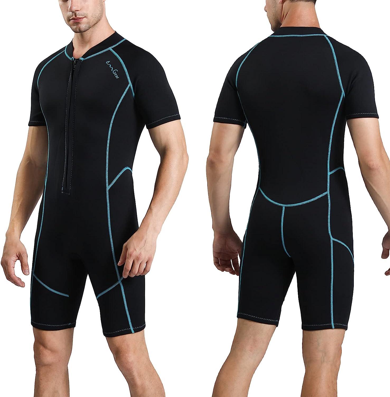 OMGear Wetsuit Women Men 2mm Neoprene Shorty Suit Dive Wet Therm Cheap mail order specialty Bargain sale store