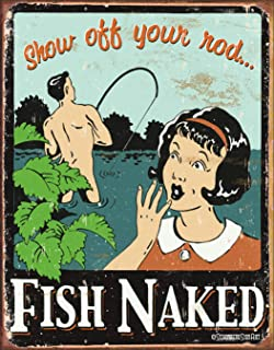 Best old metal fishing signs Reviews