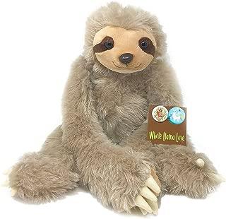 "Sloth Stuffed Animal - 20"" Plush - Long Cuddly Arms That Attach & 2 Bonus Pins - Super Soft"