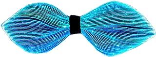 GALEXBIT Bow Tie Fiber Optic Light Up Necktie with 7 Color USB Rechargeable for Festival Party Concert