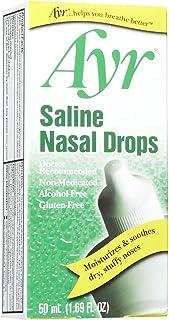 Ayr Saline Non Medicated Nasal Drops, 50 ml (Pack of 1)
