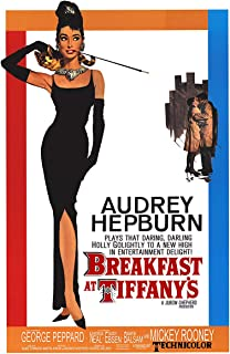 American Gift Services - Classic Breakfast at Tiffany's Audrey Hepburn Vintage Movie Poster - 24x36