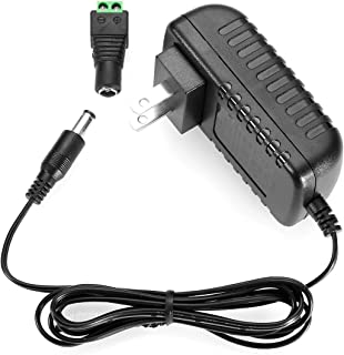 LE Power Adapter, 2A, AC 100-240V to DC 12V Transformer, 24W Switching Power Supply, US Plug Power Converter for LED Strip Light and More