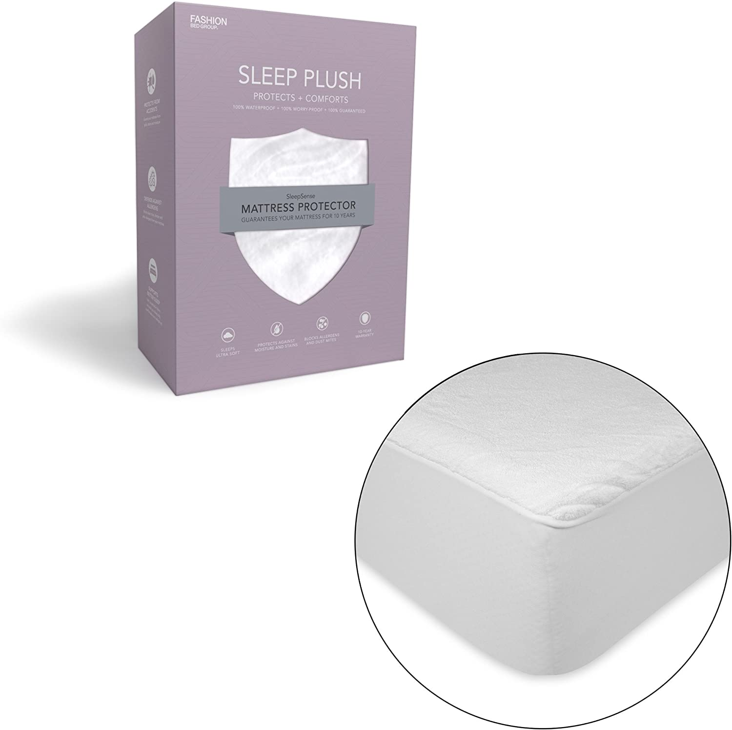Sleep Plush Mattress Predector Bed Sheet with Ultra-Soft and Waterproof Fabric, Queen