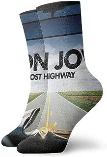 DougRNumbers Bon Jovi Socks Unisex Adult Athletic Socks Cotton Fun Crew Socks