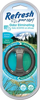 Refresh Your Car! E300864804 Dual Scent Diffuser, Alpine Meadow/Summer Breeze