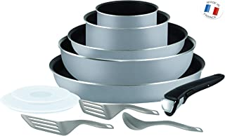 Tefal L2149902 Set of stoves and Pans - Ingenio 5 Essential Grey Scottish 11 Pieces - All Heat Except Induction