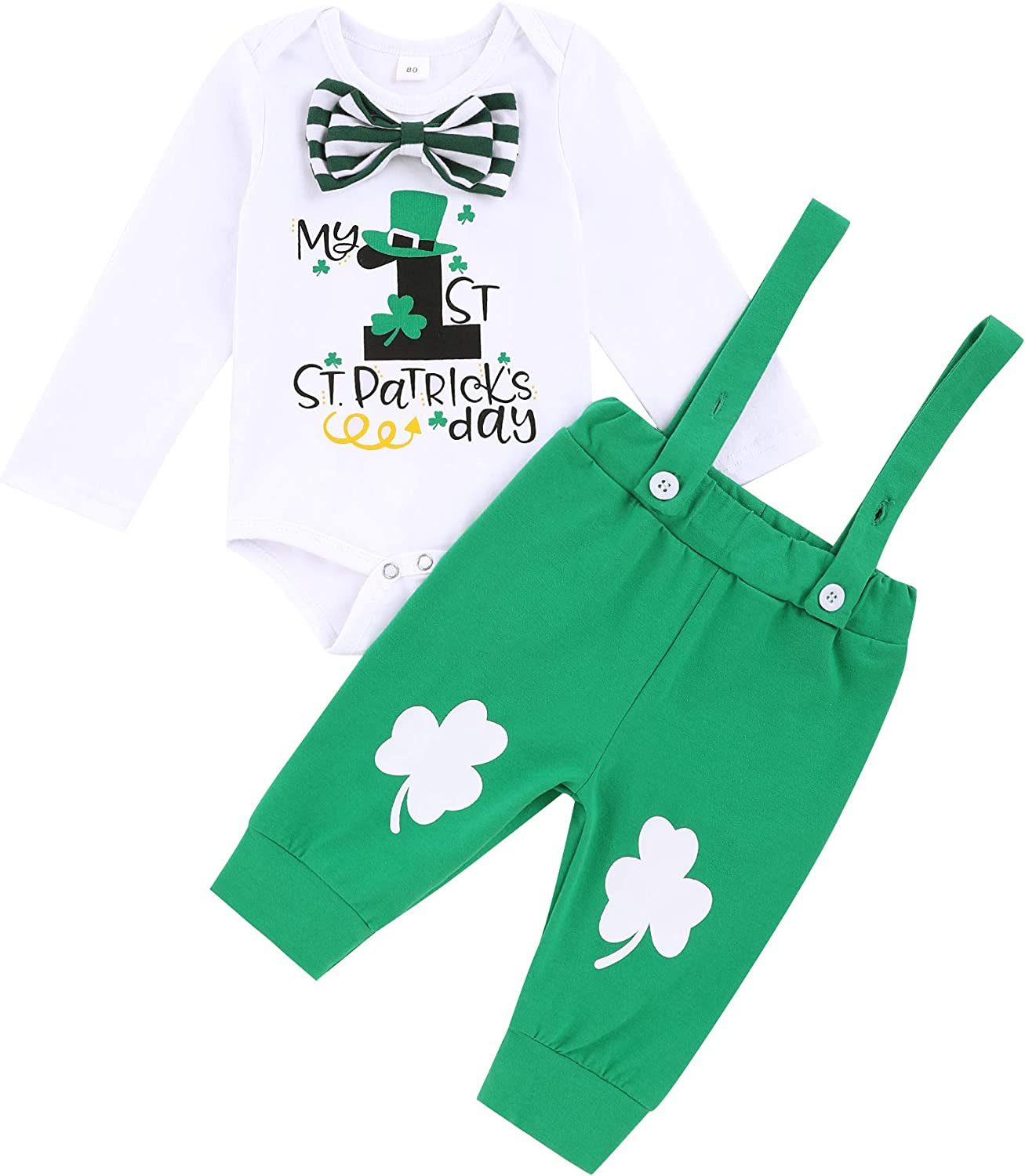 My First St Patrick's Day Outfit Max 43% OFF Bodysuit Bowtie Suspende Limited time for free shipping Romper