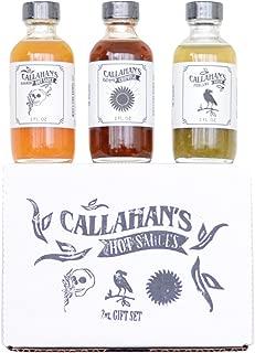 Callahan's 2 oz Gourmet Hot Sauce Gift Set - Poblano, Habanero, Black Pepper Chipotle.