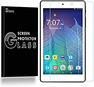 [2-Pack BISEN] Fit for Alcatel ONETOUCh POP 7 LTE Tempered Glass Screen Protector, Anti-Scratch, Anti-Shock, Shatterproof, Lifetime Protection