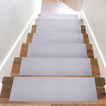 Acrabros Carpet Stair Treads Non-Slip (8.7 inch x 26 inch,Set of 7) Indoor, Heavy-Duty Safety Step Covers | Slip-Resi...