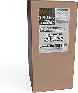 Aluminum Oxide #120-19 LBS - Fine Sand Blasting Abrasive Media for Blasting Cabinet or Blasting Guns.