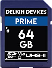 Delkin DDSDB190064G Devices 64GB Prime SDXC UHS-II (U3/V60) Memory Card