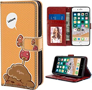 Brown Poodle Wallet Case for Apple iPhone 8 (2017), iPhone 7 (2016) 4.7inch with Coin Slot