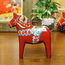 ダーラナホース ダーラヘスト 置物 レッド Grannas グラナス A オルソン ヘムスロイド社 北欧スウェーデン製 木彫りの馬 メーカーパンフレットと日本語のオリジナル説明書付き (M 高さ:13cm)