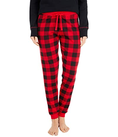 Little Blue House by Hatley Buffalo Plaid Sleep Leggings (Red) Women