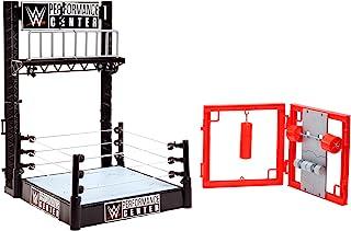 WWE Wrekkin' Performance Center Playset: Gym, Collapsible Scaffolding & Ring GGB65