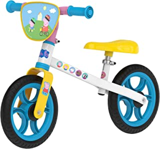 Smoby 770208 Pig First Bike - Sturdy Metal Bike in Peppa Pig Design - for Children from 2 Years - Multicoloured