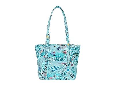 Vera Bradley Small Vera Tote (Paisley Wave) Tote Handbags