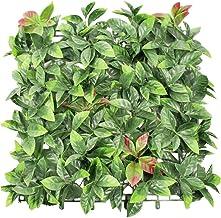 "ECOOPTS Privacy 20"" x 20"" Artificial Photinia Greenery Panel for Outdor Indoor Backyard Garden Privacy Fence Ivy Screen De..."