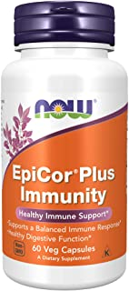 NOW Supplements, EpiCor® Plus Immunity with Vitamin C, Healthy Immune Support*, 60 Veg Capsules