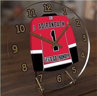 FanPlastic ECHL East Coast Hockey League Jersey Themed Desktop Clocks - All E C H L Team Colours Available - Support Your Team !!!