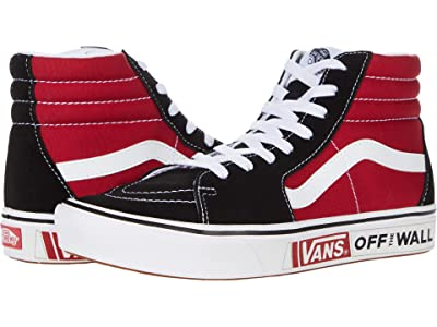 Vans ComfyCush SK8-Hi ((Future Standard) Black/Chili Pepper) Athletic Shoes
