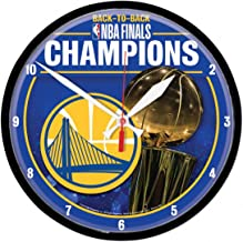 Wincraft Golden State Warriors 2018 Back to Back NBA Champions Wall Clock, 12 inches Round