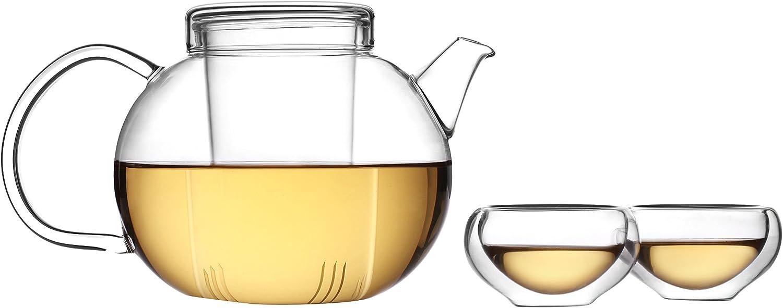 TEA SOUL Glass Set with TEAPOT 全国どこでも送料無料 与え and Tea 20 Cups 6 Multicoloured