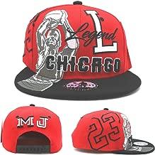 Chicago New Legend Greatest 23 MJ Shooter Red Black Era Snapback Hat Cap