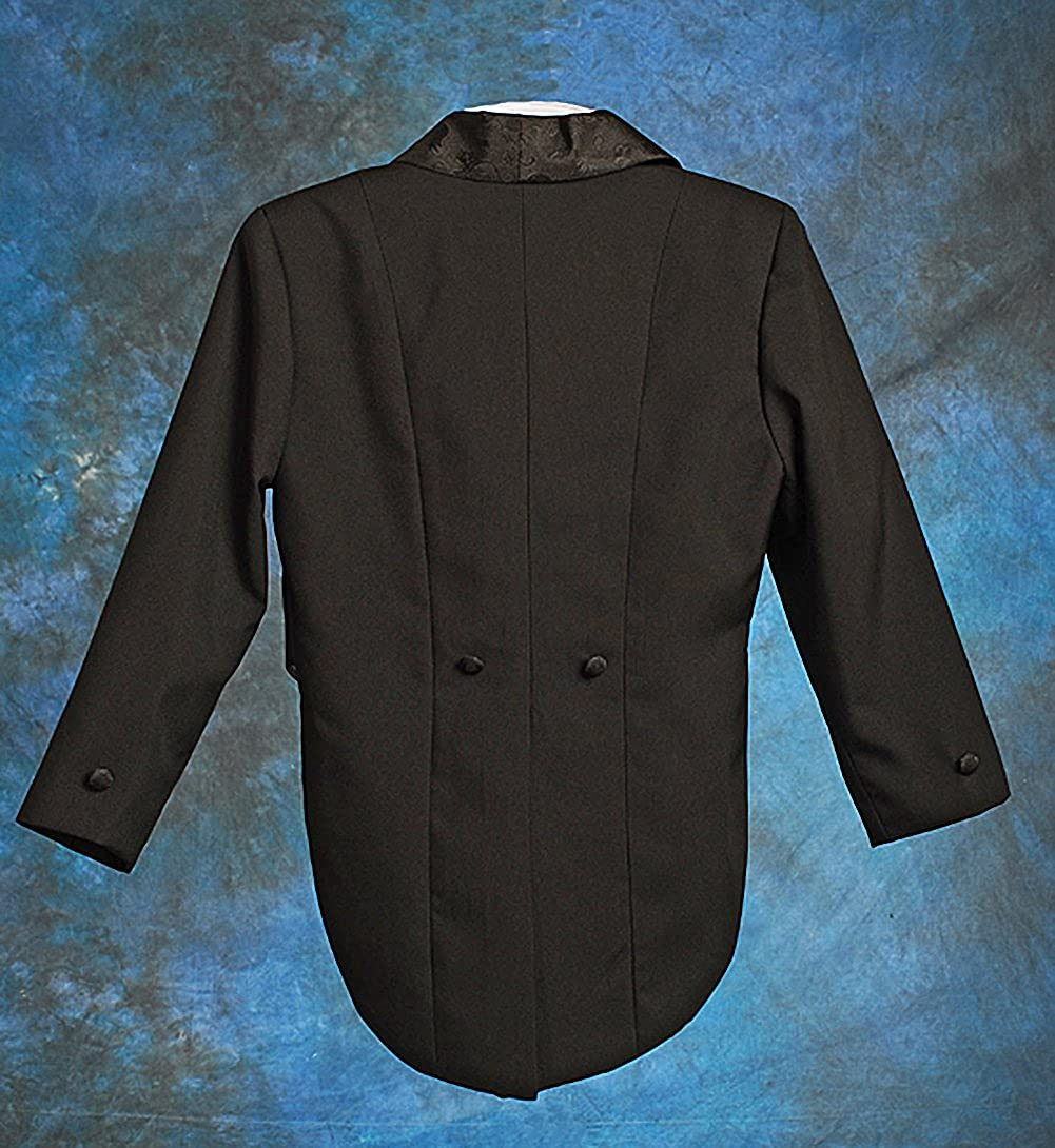Dressy Daisy Boys Classic Tuxedo w//Tail 5 Pcs Set Formal Suits Wedding Outfit 001