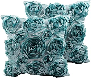 SeptCity Decorative Throw Pillow Covers for Couch Cushion Case, Romantic Love Satin Rose..