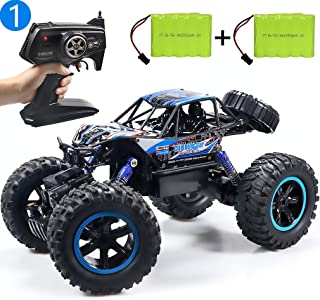 JDBABY Remote Control Car, Fast RC Cars for Boys Adults 1:14 Scale 2.4G 4WD, Off-Road Monster Toy Truck with Two Rechargeable Batteries, Birthday Gift for Kids