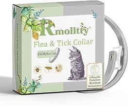 Rmolitty Collar Antiparasitos Gato, Tratamiento de pulgas de aceites Naturales para 8 Meses de protección, 35 cm de Longitud para Gatos Pequeños Medianos Grandes (35cm)