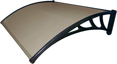 Tettoia Alluminio Pensilina 100x140 Policarbonato Trasparente Copertura Portone