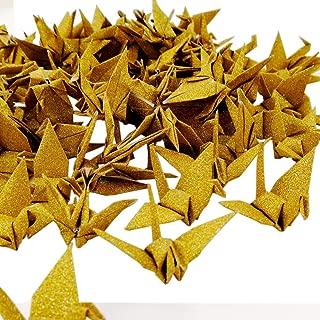 gold origami crane