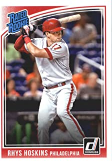 2018 Donruss #38 Rhys Hoskins Philadelphia Phillies Rated Rookie