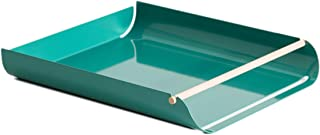 U Brands Metal Paper Tray, Letter Size, Desktop Accessory, Arc Collection, Green