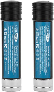Creabest 2Pack 3.6V 3500mAh Ni-MH Replacement Battery for Black & Decker Versapak Battery VP100 VP100C VP105 VP105C VP110 VP110C VP143 Model Power Tools
