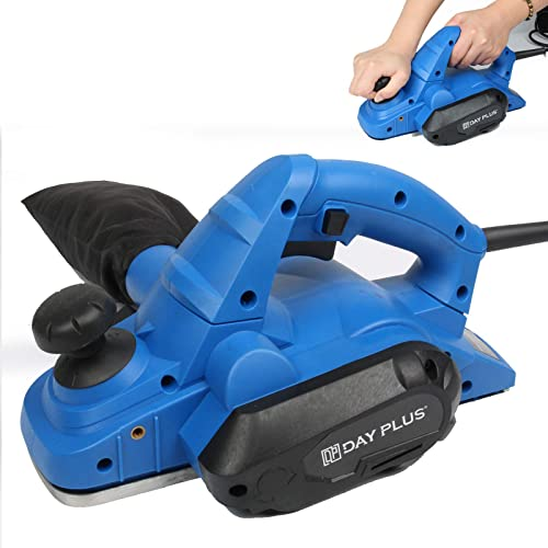 wholesale Wood Planer Electric Handy Planer 3-1/4 Inch Width and 5/64 Inch Adjustable Cutting Depth, Safety Lock Switch, V-Groove Blade, 18000PRM online 650W Powerful online sale Wood Planer for Woodwork Finesse Work sale