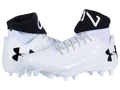 Under Armour Kids C1N MC Jr Football (Big Kid) (White/Crown Jewel/White) Kids Shoes