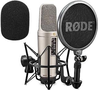 Rode NT2-A - Set de micrófono condensador y protector antiviento de espuma WS2