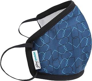 Godrej Protekt P-W95 Reusable Face Mask | for Men & Women | 6 Layer Germ Shield Technology | Design: Navy | Size: LARGE