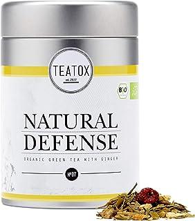 Teatox Bio-Grüntee NATURAL DEFENCE für die kalte Jahreszeit | loser grüner Tee mit Granatapfel, Süßholz, Ingwer & Echinacea | 100% biologisch & vegan, ohne Aromen & Zusätze | 70g in der Dose