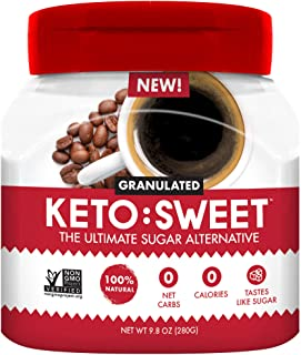 KETO:SWEET Ultimate Keto Sugar Alternative, Unflavored, 9.8 Ounce
