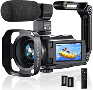 4K Video Camera Camcorder, 48MP 60FPS YouTube Camera WiFi...