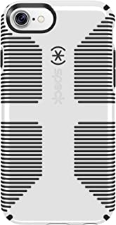 Speck Products CandyShell Grip iPhone 8 Case, Also fits iPhone 7/6S/6 - White/Black