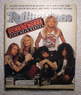 Axl Rose, Duff McKagan, Izzy Stradlin, Steven Adler & Slash - Guns N' Roses - Rolling Stone Magazine - #539 - November 17, 1988 – U2's Rattle & Hum, Mick Jagger, James Brown articles