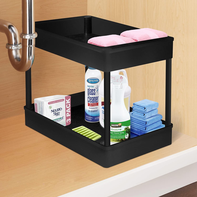 Under Sink Organizer Max 64% OFF OFFicial shop Bathroom Storage 2 Tie
